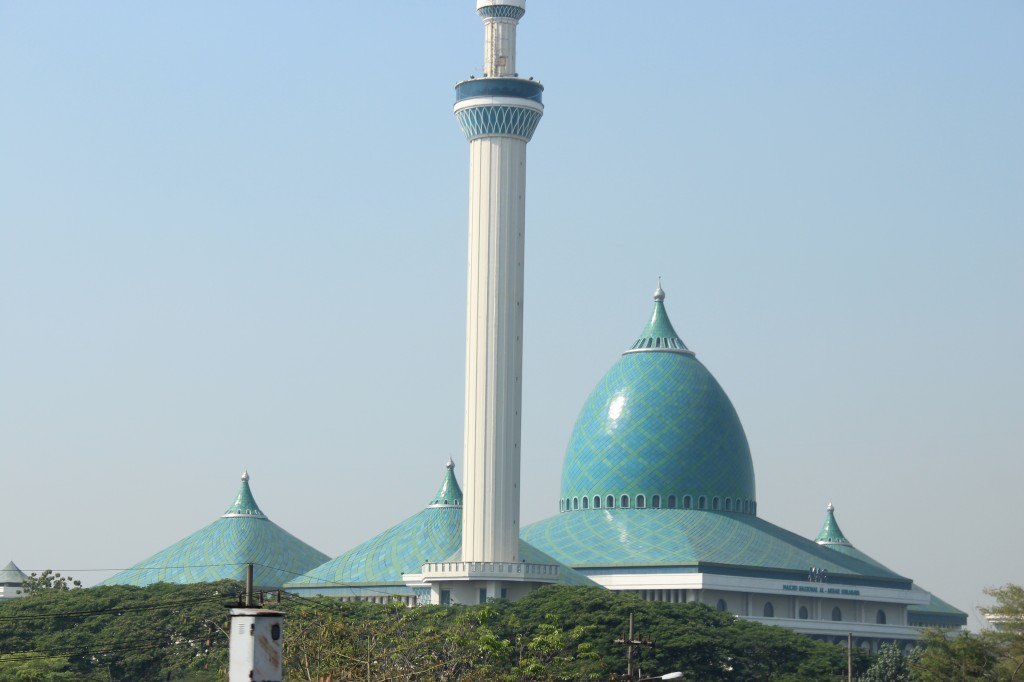 Largest Mosque in Surabaya.  This place is huge.